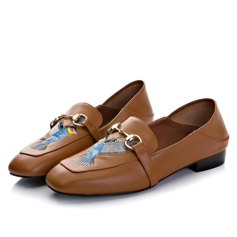 EMROIDERED OXFORD SHOES CRUELTY-FREE - impaviid