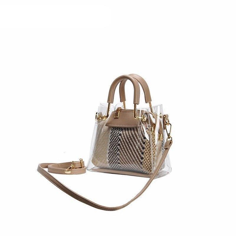 MINI TRANSPARENT HANDBAG VEGAN LEATHER