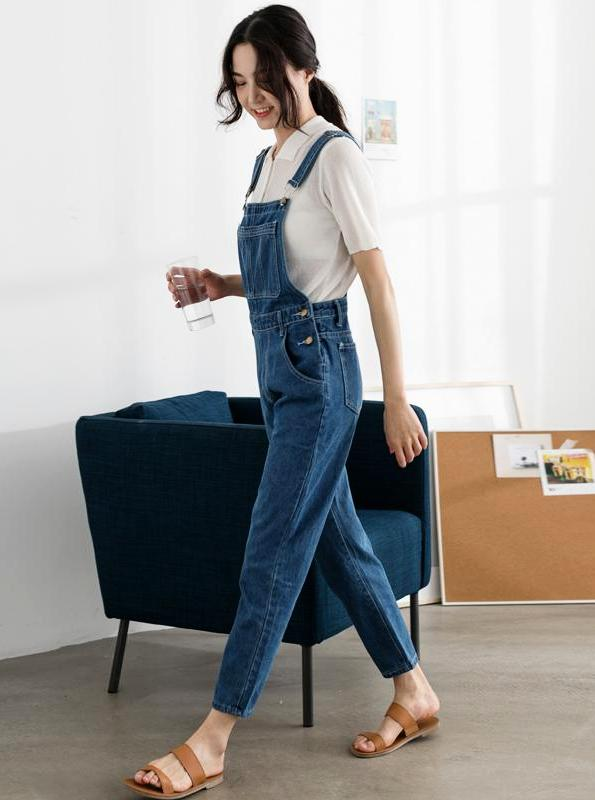 DENIM OVERALLS KOREAN DESIGN - impaviid