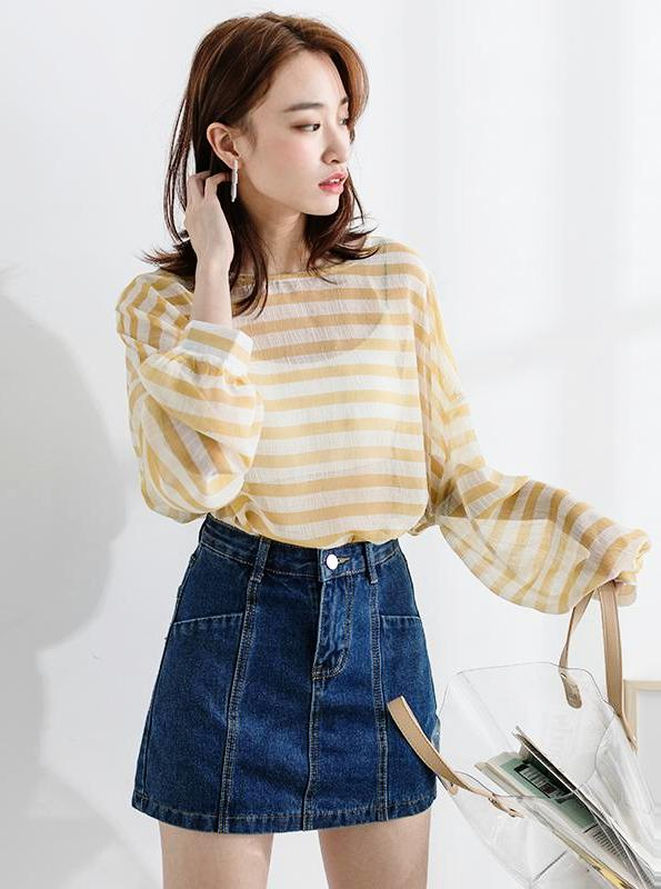 SUPER SHORT DENIM MINI KOREAN DESIGN - impaviid