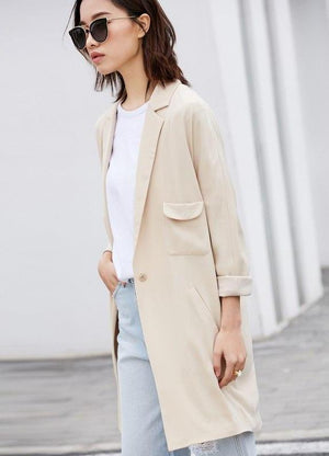 LIGH OPEN TRENCH COAT
