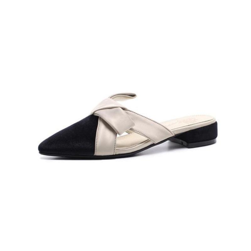 POINTED TOE SUEDE FLATS VEGAN LEATHER - impaviid