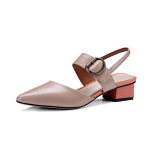 SULETUD TOE KITTEN HEEL SANDALS VEGAN LEATHER - IMPAVIID