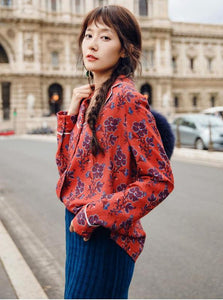 RETRO STYLED FLORAL SHIRT JAPANESE DESIGN