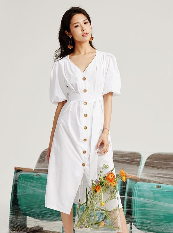 APPRON ROBE RETRO BLANCHES BLANCHES - impaviide