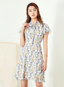 FLORAL CHIFFON BOHO DRESS - impaviid
