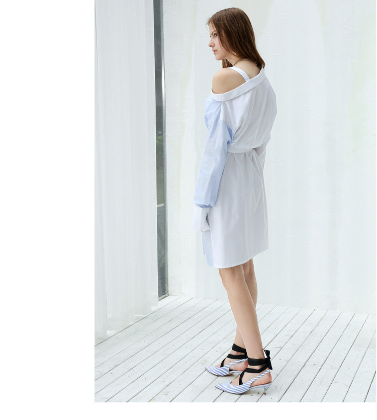 MINIMALISM ASYMMETRICAL SHIRT DRESS