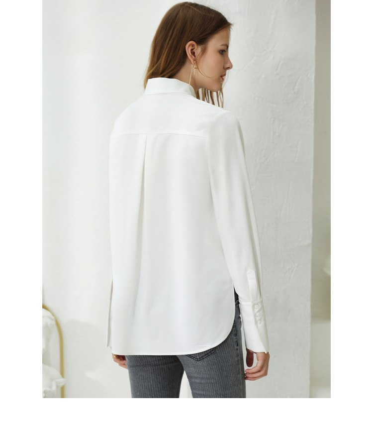 CHIC FORMAL BLOUSE WITH A BOW - IMPAVIID