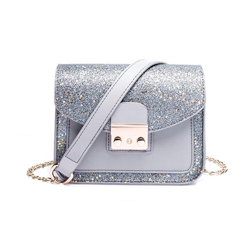 GLITTER SMALL HANDBAG VEGAN LEATHER