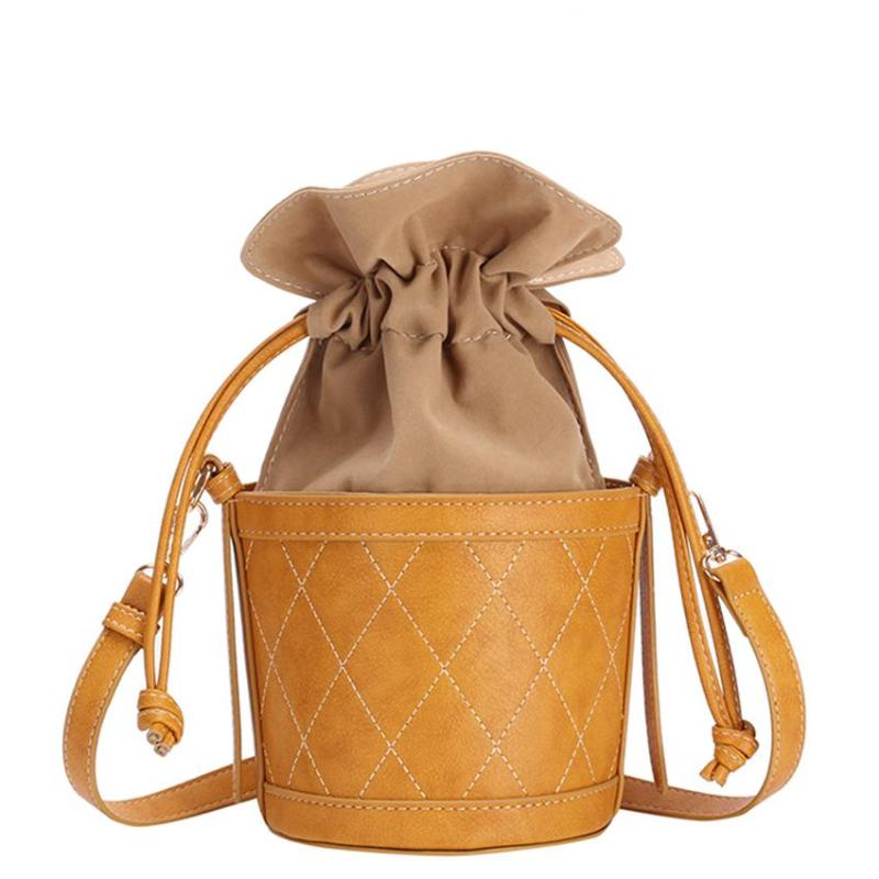 HALF-BUCKET SHOULDER BAG VEGAN LEATHER