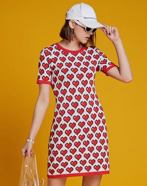 HARAJUKU POP-ART JACQUARD KNITTED DRESS