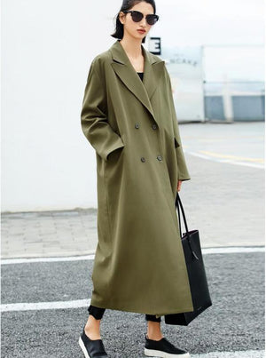 OVERSIZED EXTRA LONG CLASSIC 80'S INSPIRED TRENCH COAT