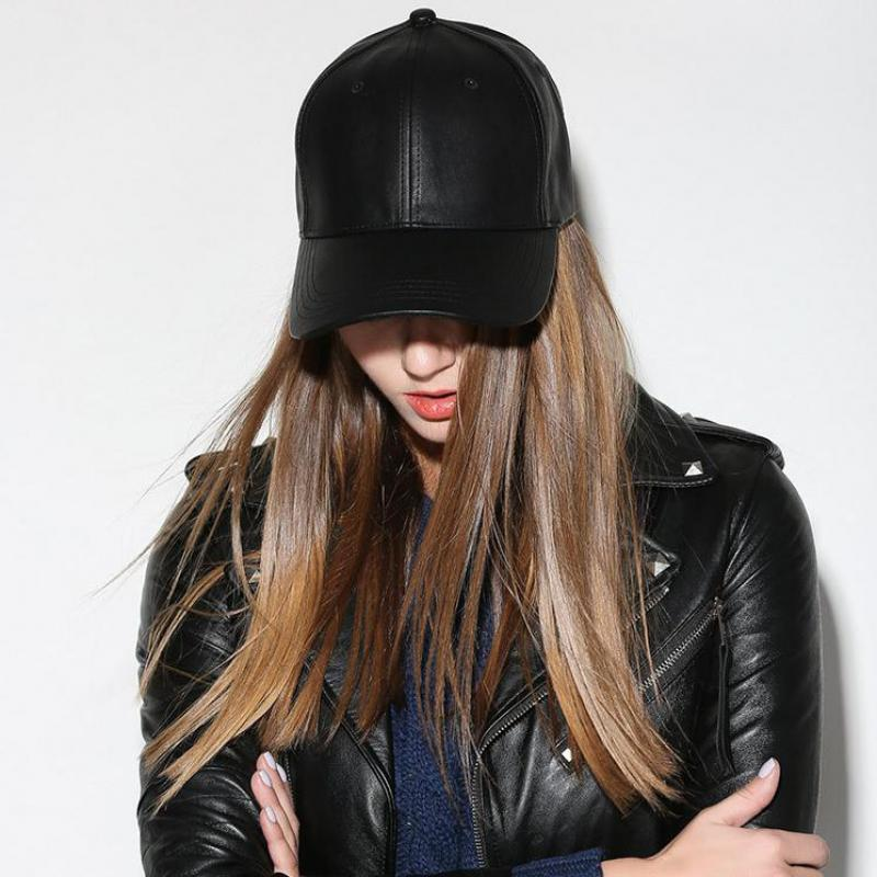 FAUX LEATHER SNAPBACK CAP