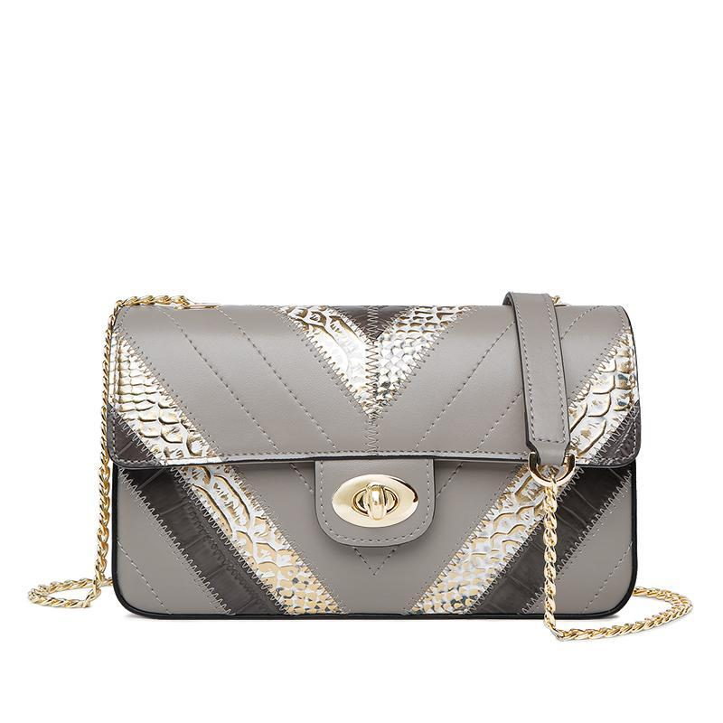 ANIMAL PRINT GREY SMALL CROSSBODY BAG - IMPAVIID