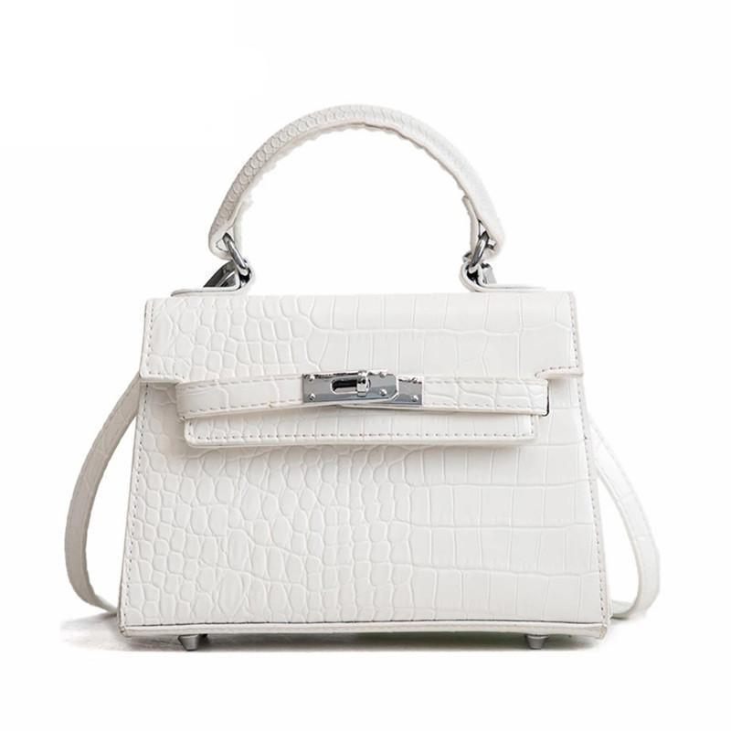 PANGKALAHATANG PATTERN WHITE SHOULDER BAG - IMPAVIID