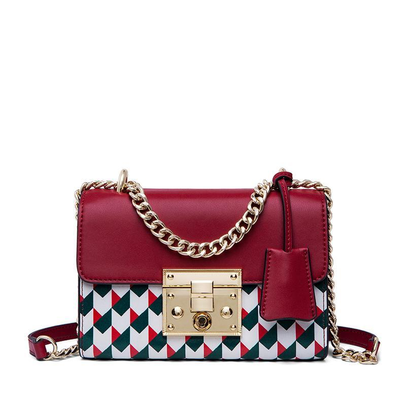 GEOMETRIC PATTERN SMALL CROSSBODY BAG