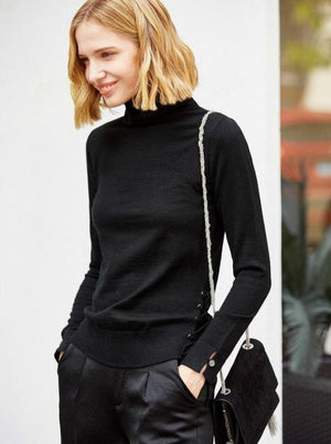 MINIMALISM THIN SIDE LACED UP SWEATER