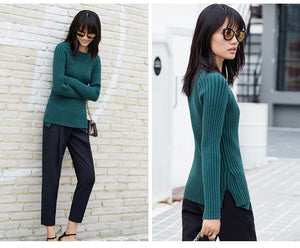 MINIMALISM ASYMMETRICAL KNITTED SWEATER