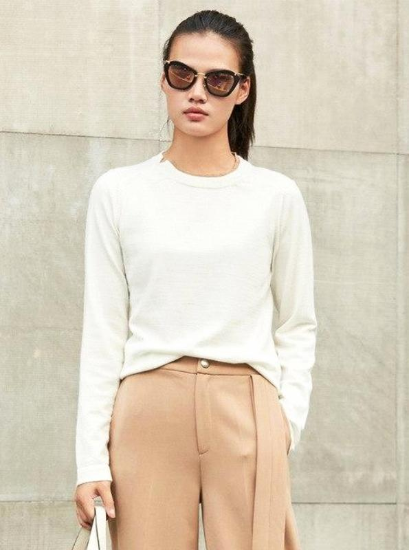 MINIMALISM CHICM KUDUMISED SWEATER