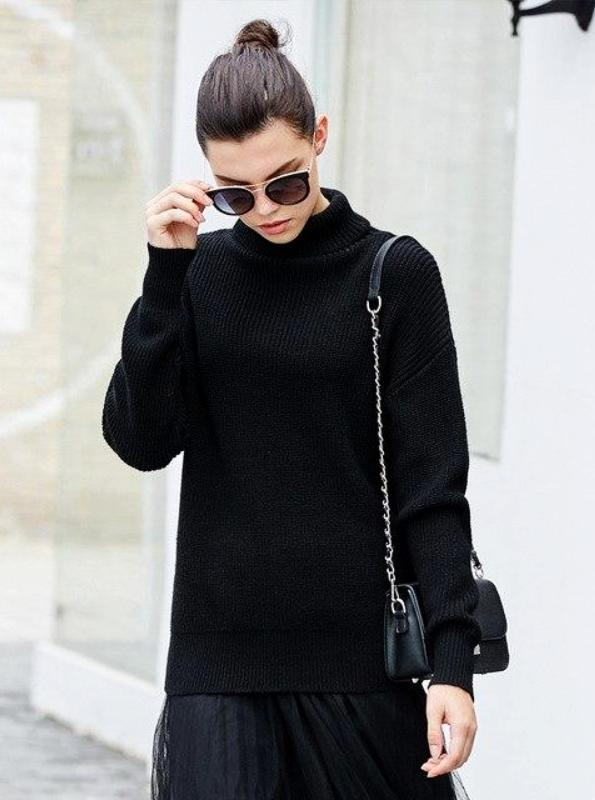 BACKLESS KNITTED TURTLENECK SWEATER - IMPAVIID