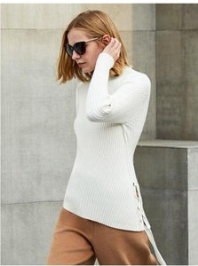MINIMALISM TURTLENECK WITH SIDE LACING