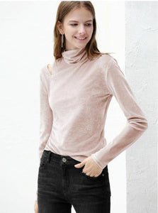 VELVET TURTLENECK MULTIPLE COLORS