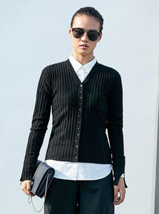 MINIMALISM CHIC THIN CARDIGAN