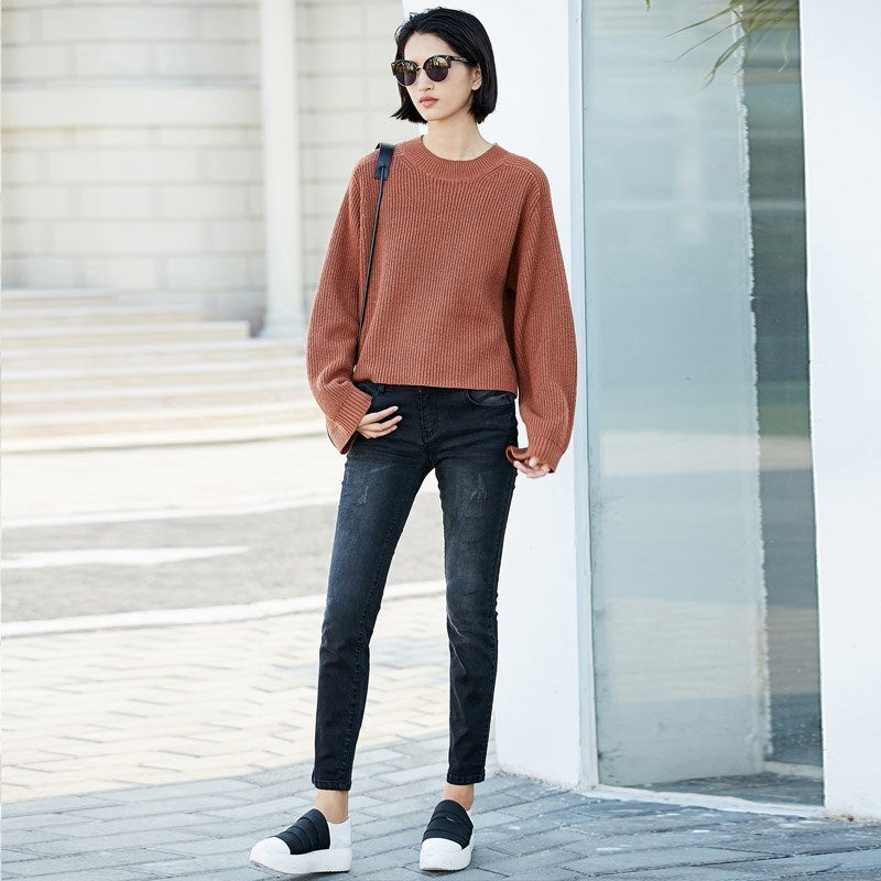 MINIMALISM CASUAL KNITTED SWEATHER