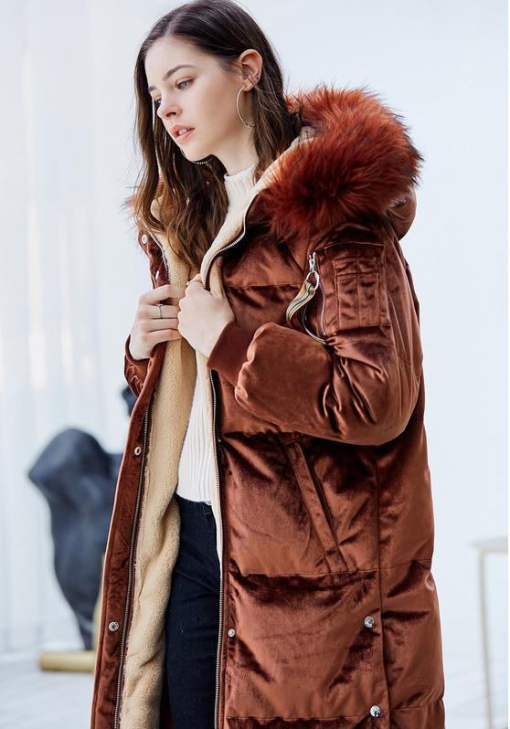 HOODED VELVET MAXI DAWN JACKET