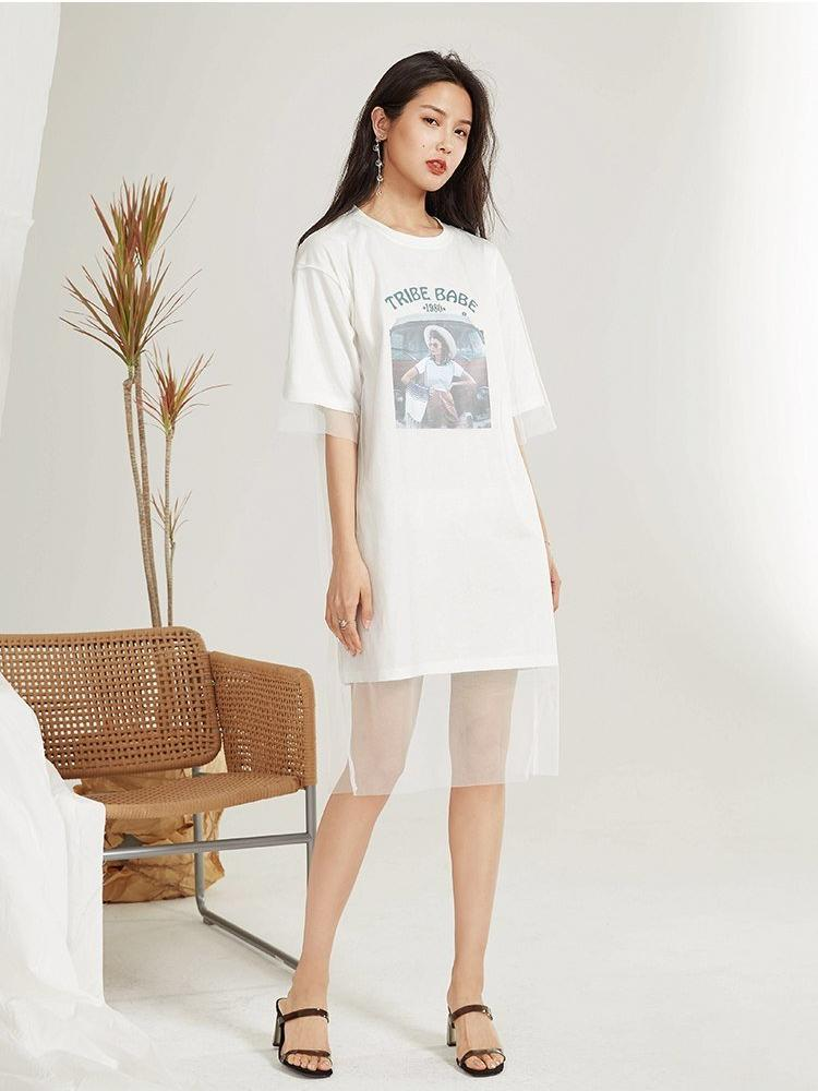 OVERSIZED GRAPHIC T-SHIRT DRESS