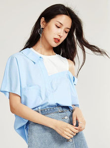 BLUE 2 1 SHIRT & TOP - IMPAVIID