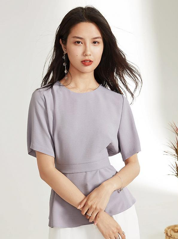 LILAC FORMUL WRAPPED BLOUSE