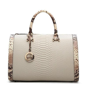 SNAKE PRINT BOSTON RANDBAG