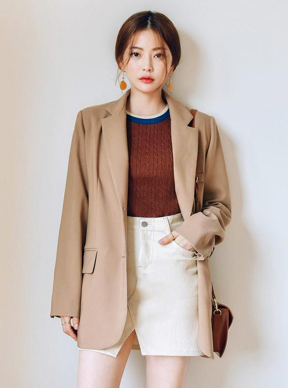 K-FASHION KHAKI BLAZER