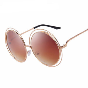 MERRY'S ROUND PUNGLASSES SHADES DOUBLE BIG FRAME - impavaid