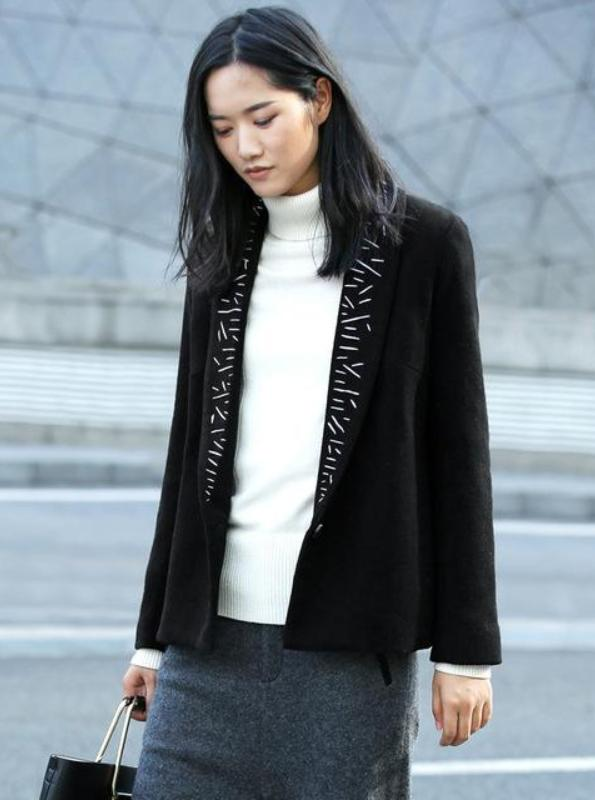 OPEN STITCH BLAZER COAT