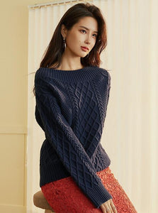 OFF THE SHOULDERS SWITTED CHUNKY SWEATER