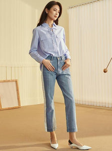 SIDE STRIPE CROPPED RIGHT JEANS