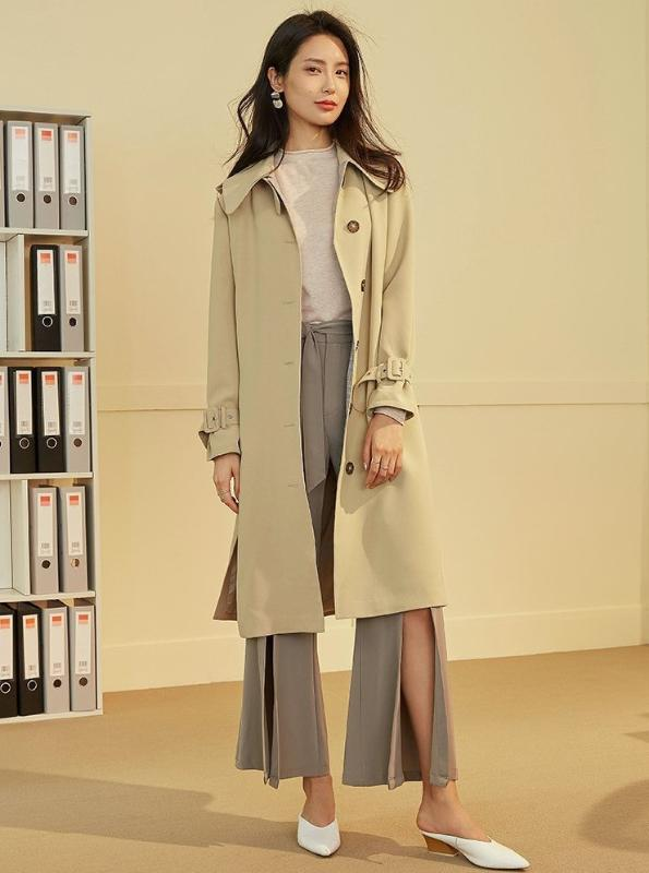 KHAKI 90 INSPIRED TRENCH COAT