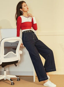 90IN INSPIRED OVERSIZED WIDE LEG JEANS - IMPAVIID
