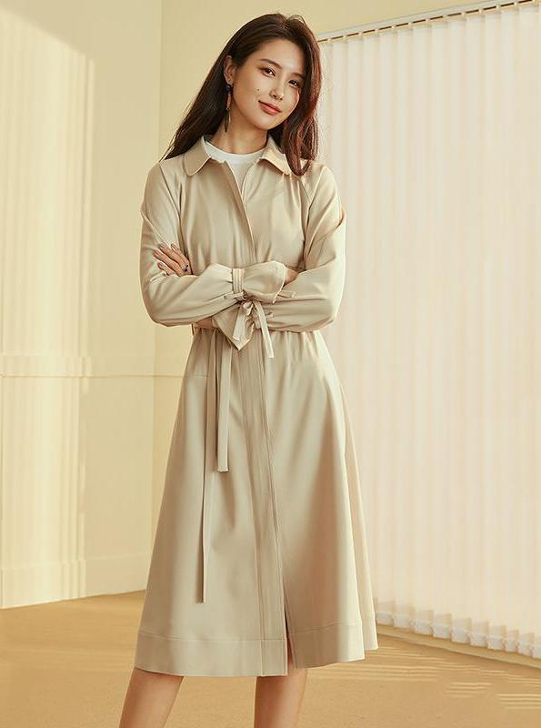 FLARE SLEEVE A-LINE TRENCH COAT