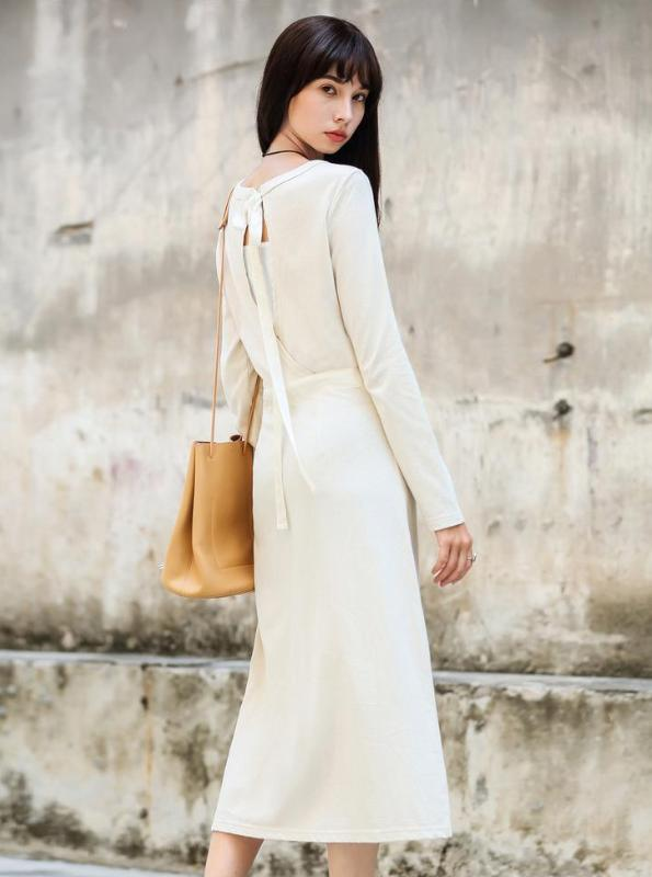 MINIMALISM THIN KNITTED MAXI DRESS