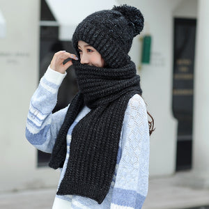 KUDUMISED BEANIE & SCARF WINTER SET