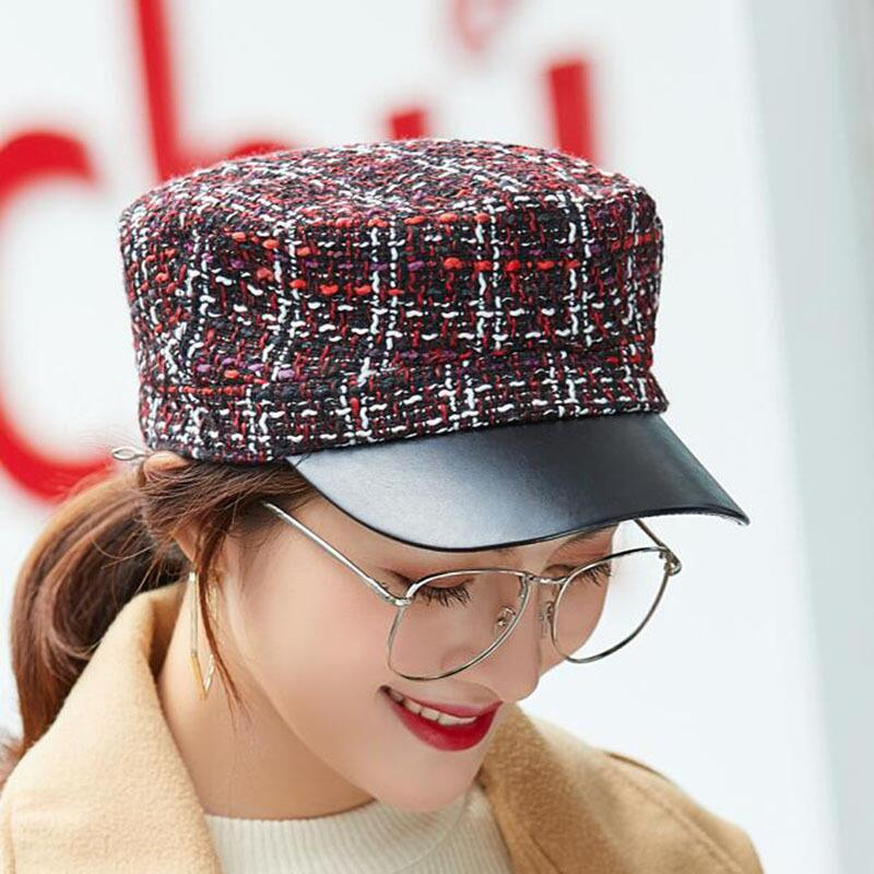 PLAID TWEET NEWSBOY HAT