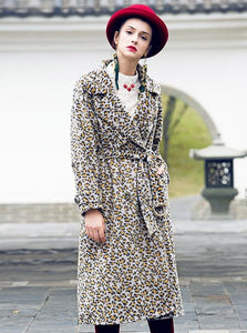 LONG LEOPARD PRINT COAT