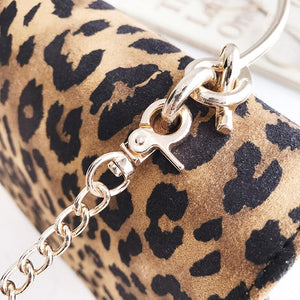 LEOPARD PRINT CHAIN FLAP BAG