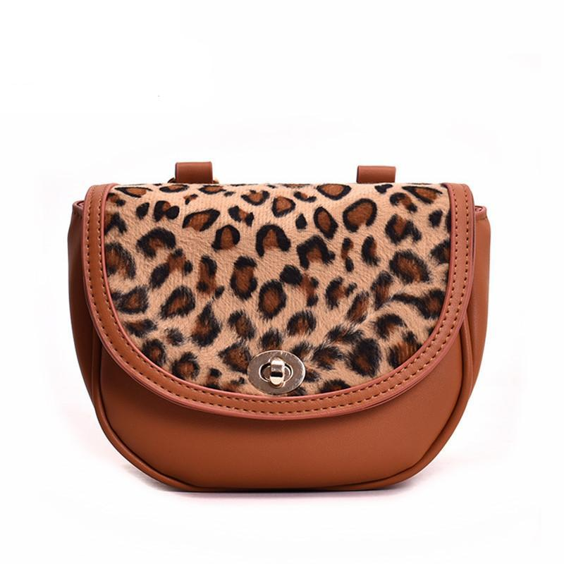 LEOPARD PRINT SADDLE BAG