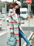 BLUE AND RED PLAID COAT - IMPAVIID