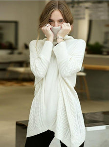KNITTED OVERSIZED ASYMMETRIC SWEATER