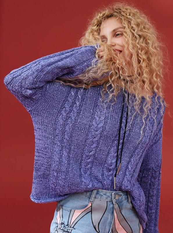 HAND KNITTED OVERSIZED SPARKLING SWEATER